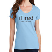 iTired Ladies V-neck T-shirt
