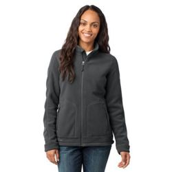 Eddie Bauer Ladies Wind Resistant Full Zip Fleece Jacket Thumbnail
