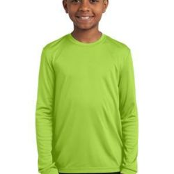 Sport Tek Youth Long Sleeve Moisture Wicking Tee Thumbnail