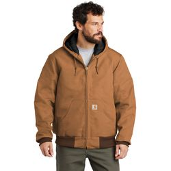 Carhartt ® TALL Quilted-Flannel-Lined Duck Active Jacket CTTSJ140 Thumbnail